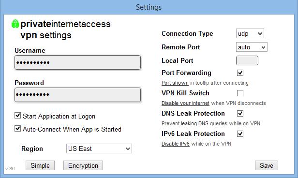 PIA-Software-Advanced-setti