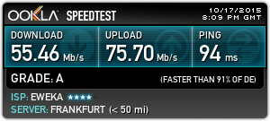IPVanish Speedtest Europe (Germany)