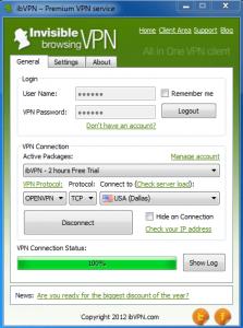 ibvpn desktop software (PC)
