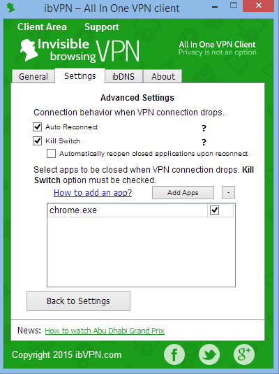 ibVPN has an app level kill-switch for extra security