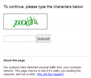 Google Captcha (Cause by Shared IP)