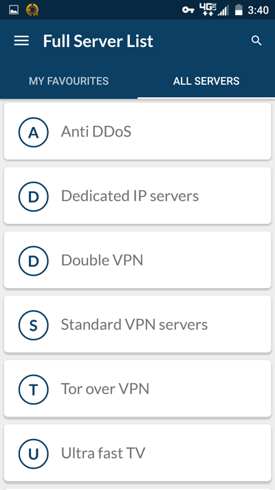how to choose a server on nordvpn