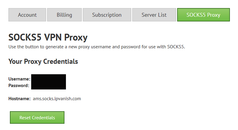 How to use IPVanish's Socks5 Proxy for Anonymous Torrents (w/ pics)