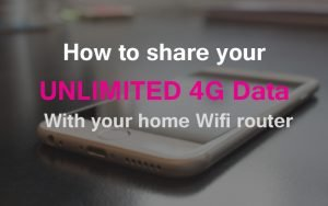 How to share your 4G mobile data with your router