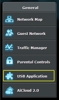 USB Application settings