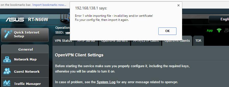 Missing CA certificate error