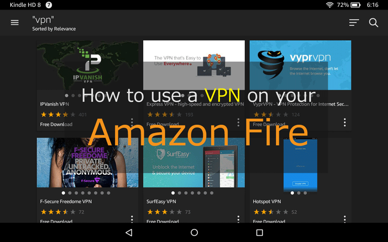 Yes, you can use a VPN on your Amazon Fire Tablet: Here's how