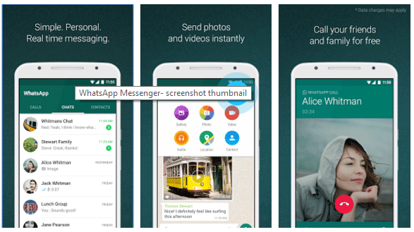 Whatsapp Messenger (with End-to-End encryption)