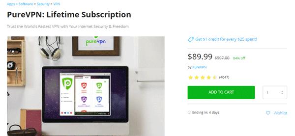 PureVPN Lifetime offer