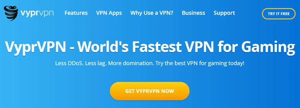 VyprVPN for gaming, ddos, improved ping.