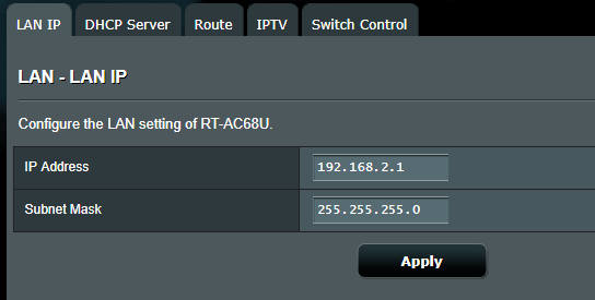 ASUSWRT Router IP Address