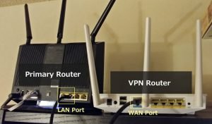 How to set up a dedicated VPN router with two routers
