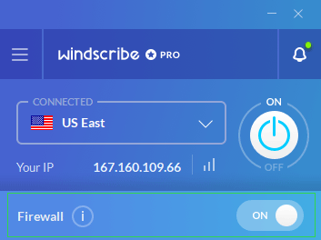 Windscribe firewall on