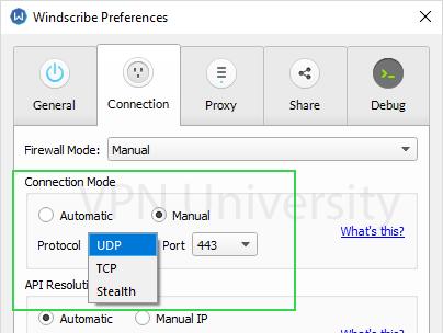 Windscribe protocols tcp udp stealth