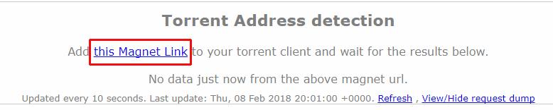 torrent IP magnet link