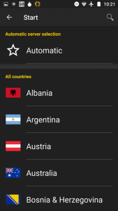 Standard server selection by location