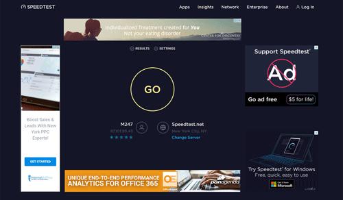Website before using Cyberghost Adblock