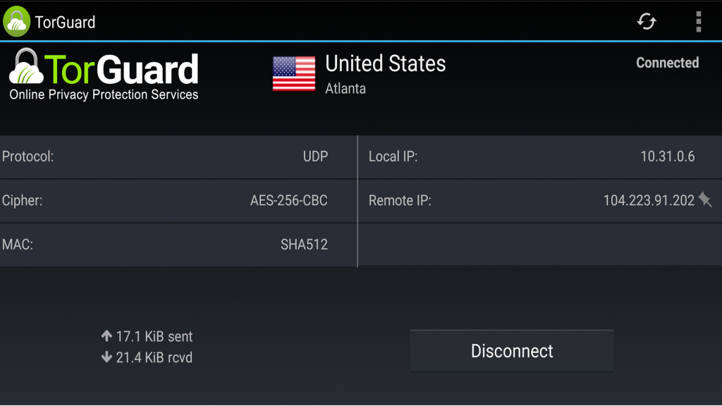 Torguard's FireTV VPN App