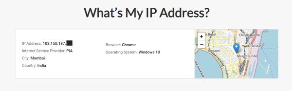 IP-address geolocation in Mumbai, India