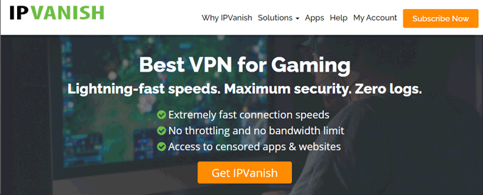 IPVanish #2 VPN for League of Legends and Gaming
